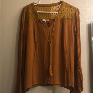 Patrons of Peace long sleeve blouse